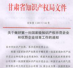 国家级知识产权示范和优势企业